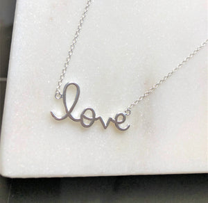925 Sterling Silver Love Me Necklace