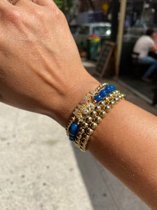 Blue Hope All Seeing Lapis Bead Bracelet