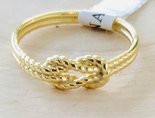 Load image into Gallery viewer, Sterling Silver Gold Plated Twisted Rope Ring