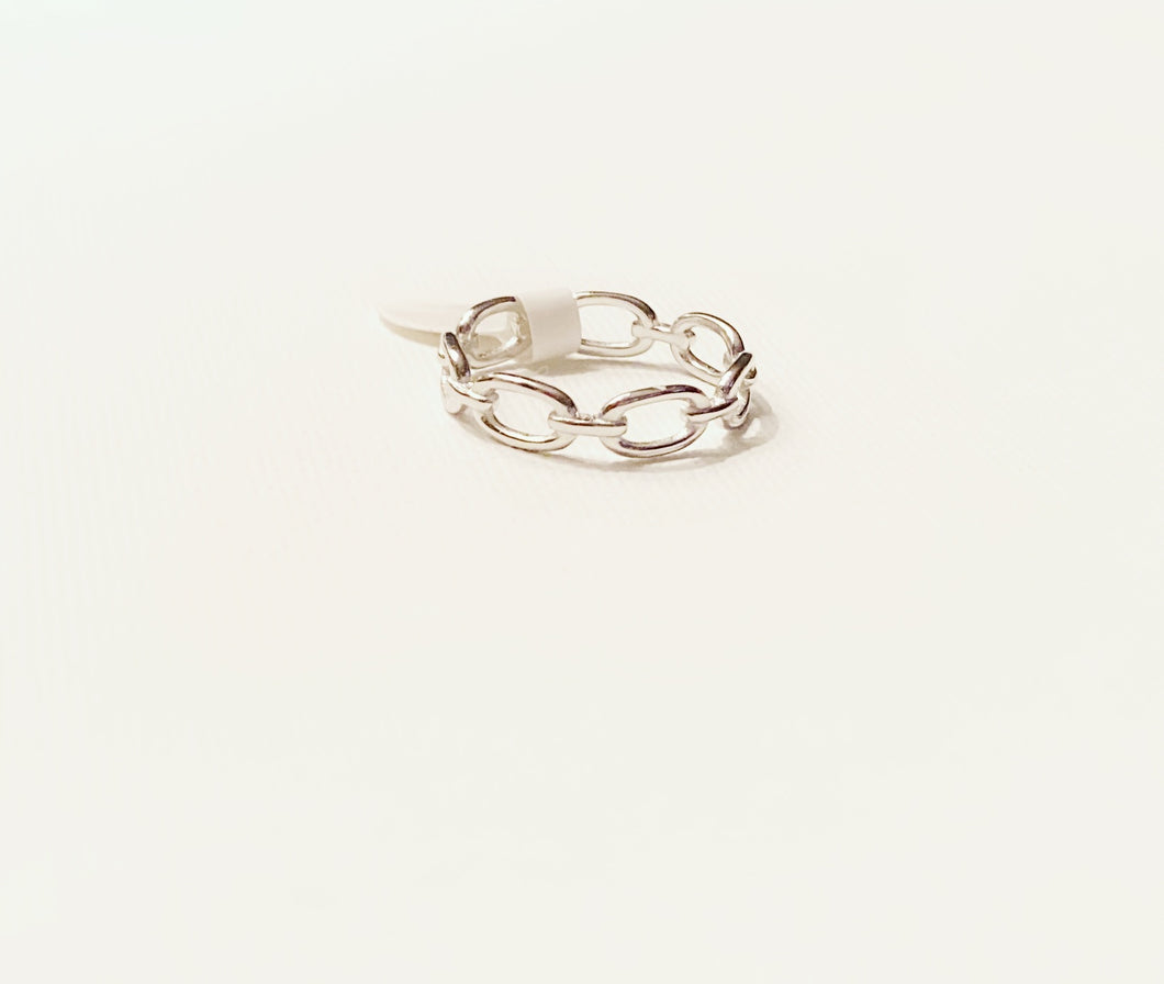 Sterling Silver Open Link Ring