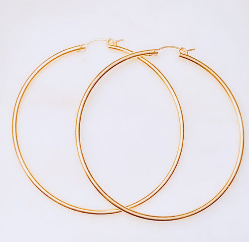 Mega Hot Hoop Earrings 65 MM