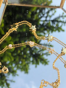 Rock Star Silver Gold Plated Bracelet