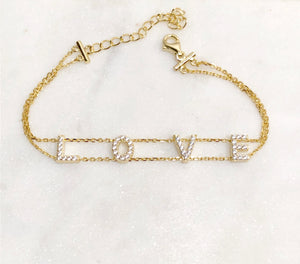 Sterling Silver Gold Tone Love Bracelet