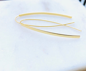 Gold Plated Skinny Liquid Threader Earrings