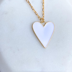Pure Heart Enamel Necklace