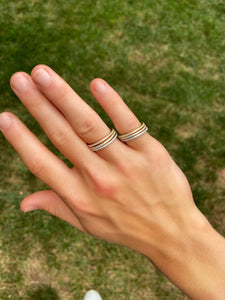 Stacked Pave Stone Rings