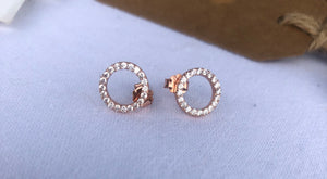 Open Circle Sparkle Earrings