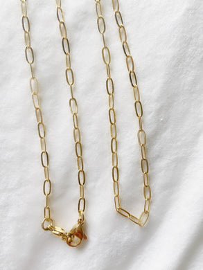 paper clip link chain for your mask gold fashion
