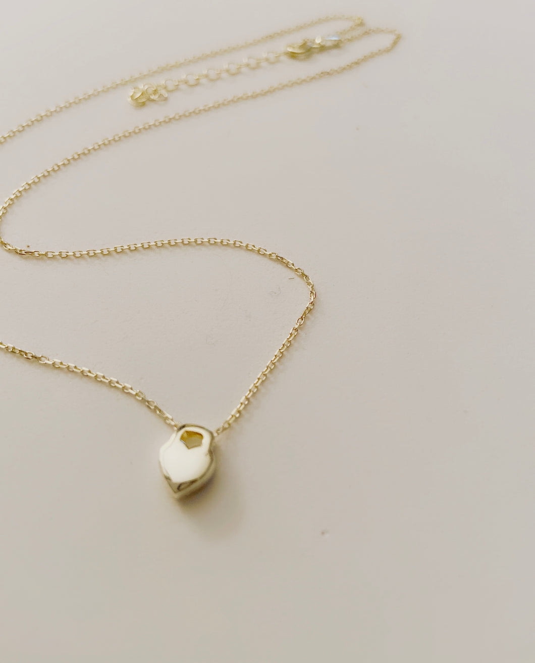 Tiny Heart Lock Necklace