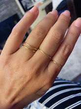Load image into Gallery viewer, Sterling Silver Gold Plated Dainty Plain Band Ring