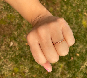 Sterling Silver Rose Gold Plated Eternal Link Ring