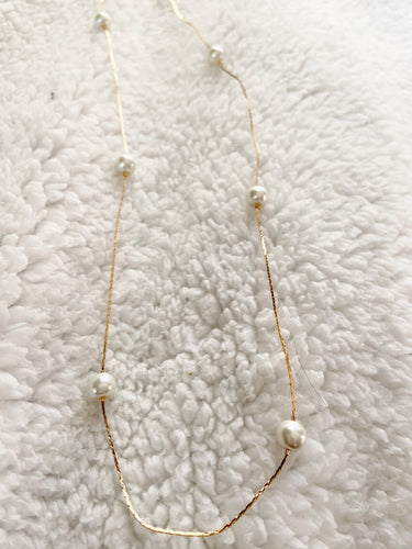 Lucia Pearl Chain Necklace