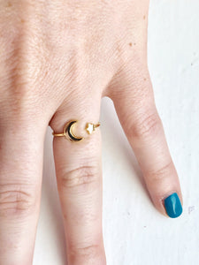 Star & Moon Ring