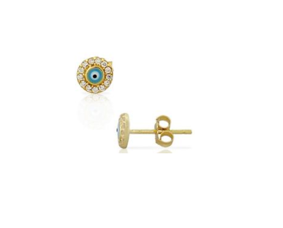 Round Evil Eye Earrings