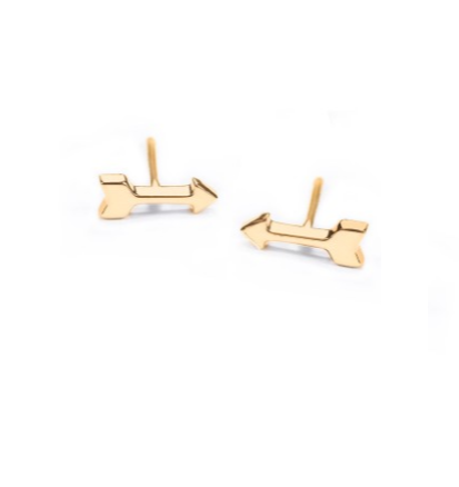 Go Forward Arrow Sterling Silver Stud Earrings