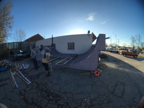 In progress of some rad ramp construction
