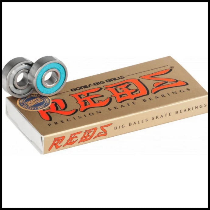 Bones® BIG BALLS™ REDS® Skateboard Bearings 8 pack - Pedal Driven Cycles