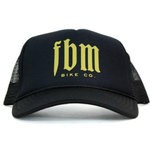Load image into Gallery viewer, FBM Script Mesh Trucker Hat
