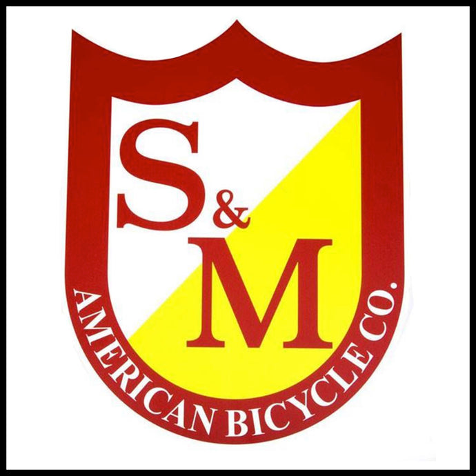 S&M Big Sheild Sticker - Pedal Driven Cycles