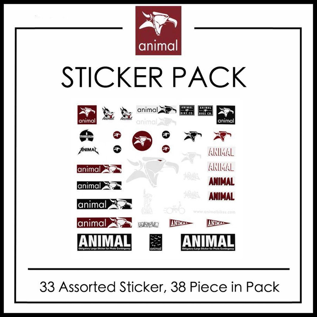Animal Sticker Pack - Pedal Driven Cycles