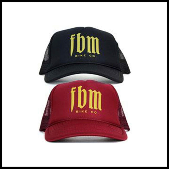 FBM hat trucker bmx bike fat bald men