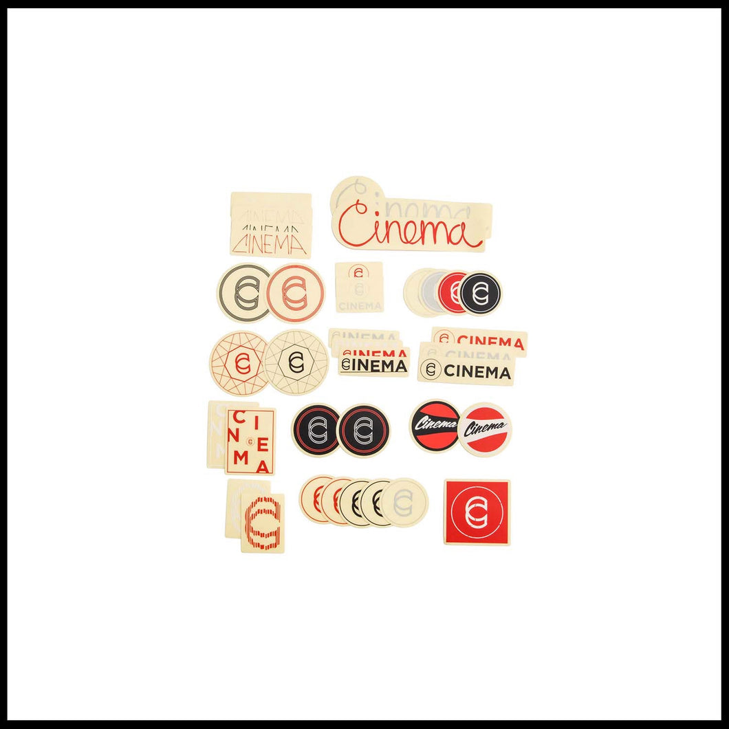 Cinema Sticker Pack - Pedal Driven Cycles