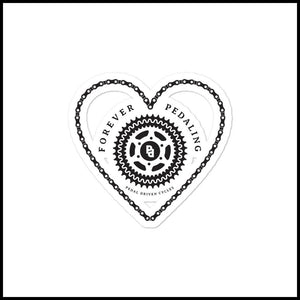 PDC Heart Bubble-free stickers