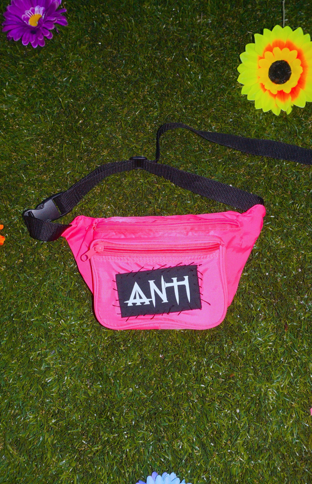 NEON FANNY PACK pink/yellow/orange