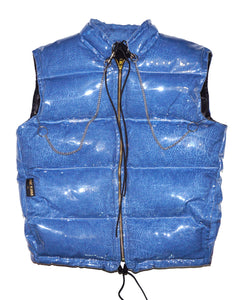 "MEN 'VINYL DENIM BUBBLE"" VEST"