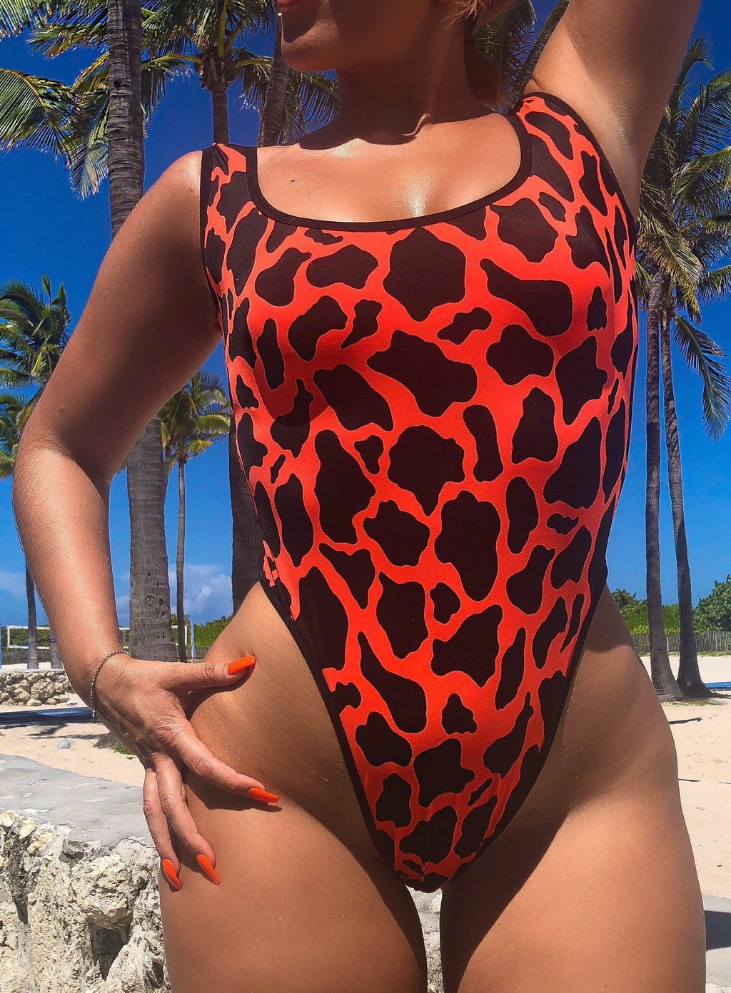 "HIGH WAIST ""FLINTSTONE"" BODY SUIT"