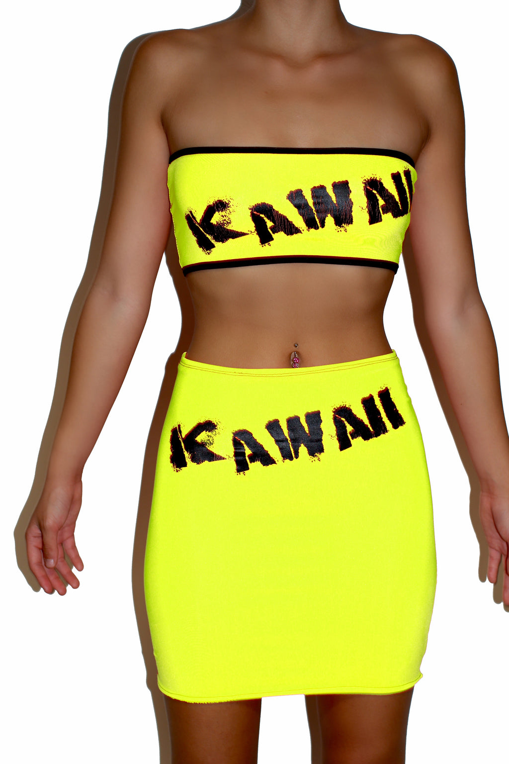 THE 'KAWAII' TUBE TOP pink/green/orange/yellow