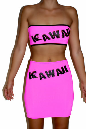 THE 'KAWAII' SKIRT pink/green/orange/yellow