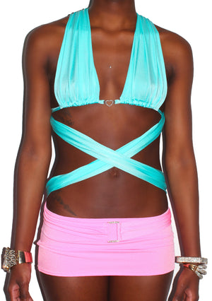 "THE "" KELLY "" WRAP AROUND TOP multicolor"