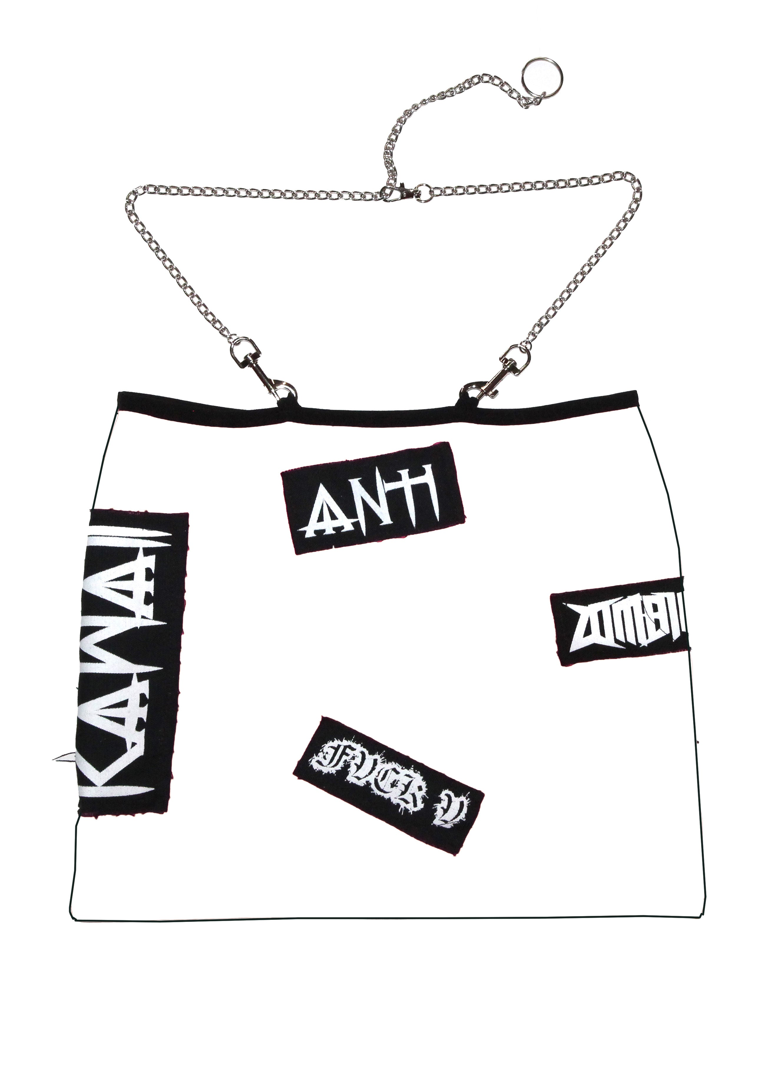 "THE "" ZOMBIE "" SKIRT multicolor"