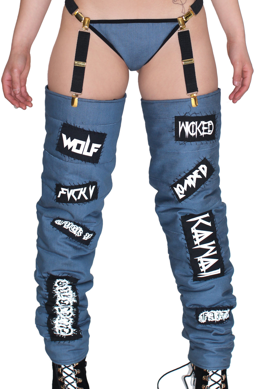 THE 'KAWAII' DENIM LEG WARMERS