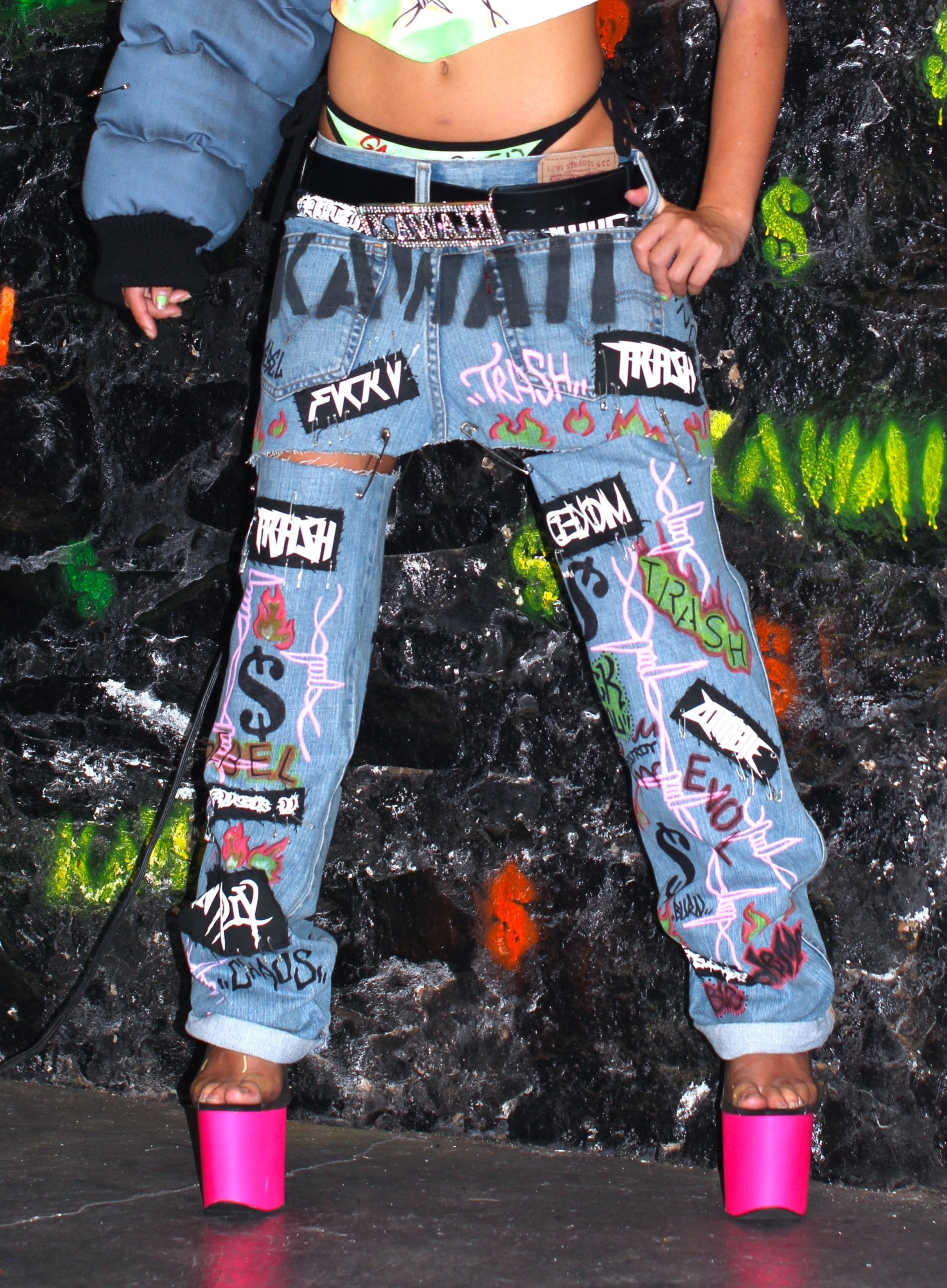 "THE 2 IN 1  ""TRASH FASH"" JEAN"