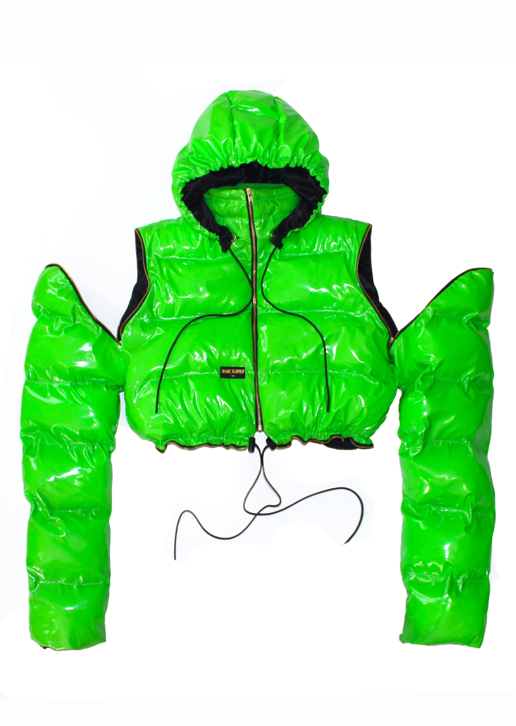 """SLIME"" VINYL BUBBLE JACKET multicolor"