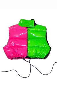 """MULTICOLOR"" CROPPED BUBBLE VEST"