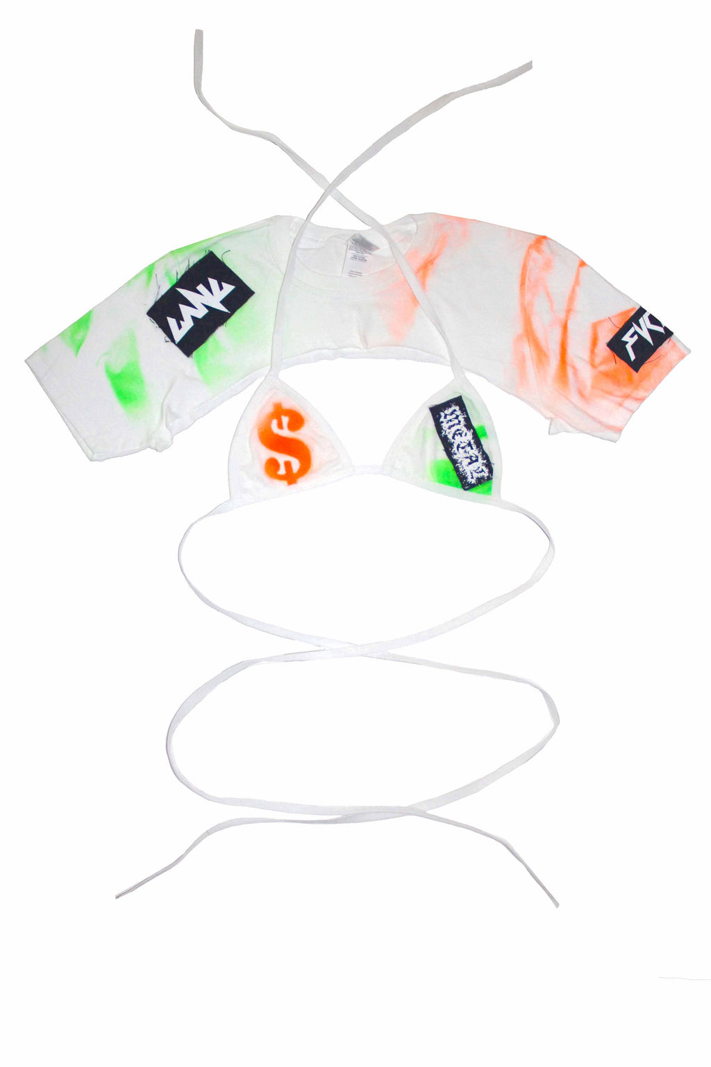 "THE "" MONEY "" TIE DYE CROPPED TOP"
