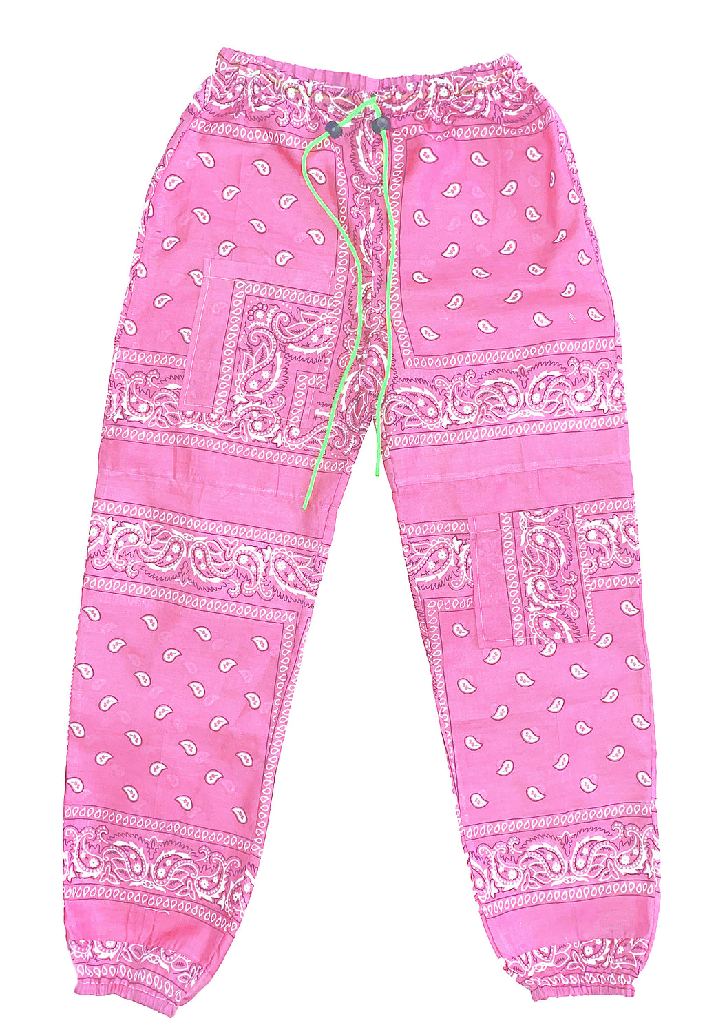 """SOLID COLOR BANDANA PANTS "" multicolor"