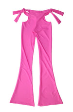 "THE ""PINK SUGGA "" LOW RISE FLARE PANTS"