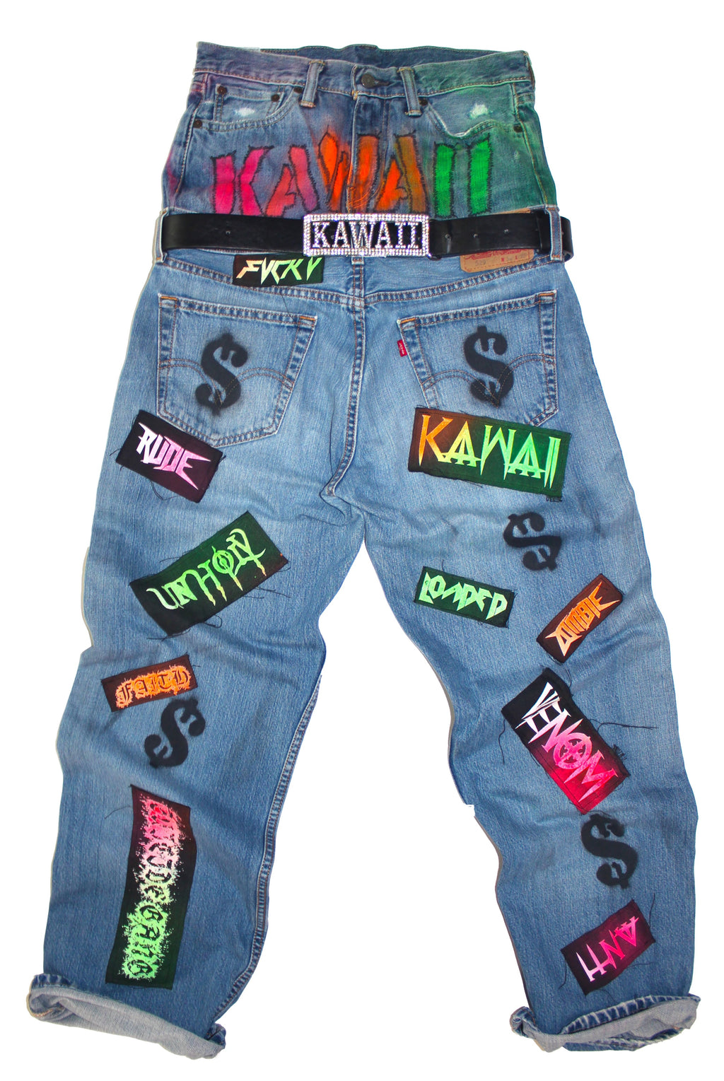 "THE ""KAWAII"" MULTICOLOR DOUBLE WAIST JEAN"