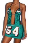 MIAMI DOLPHINS HALTER DRESS