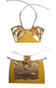 "THE ""GOLD MEMBER "" MULTICO BIKINI SET"