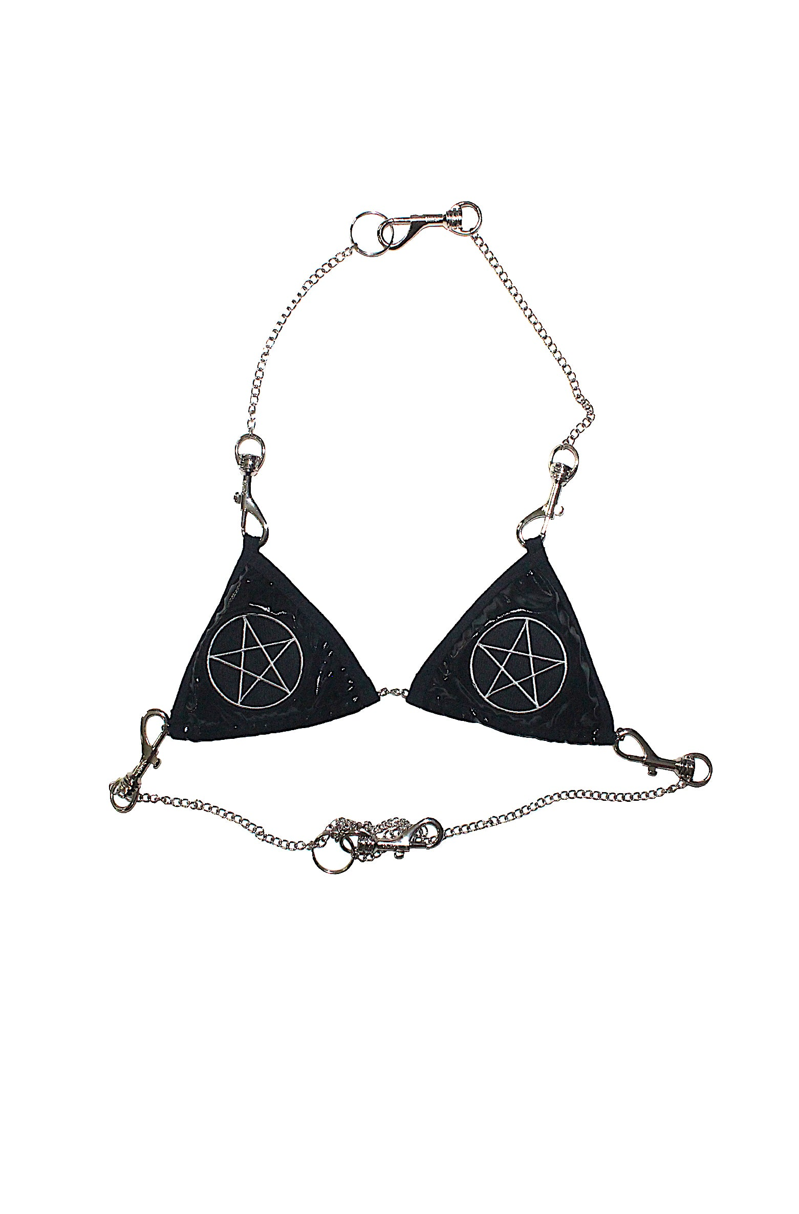 "THE "" PENTAGRAM VINYL BRA"""