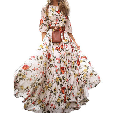 Women Summer Boho Long Maxi Dress