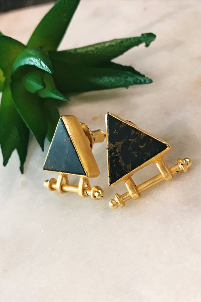 Vintage onyx earrings