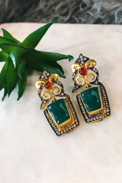 Vintage sparkle earrings