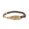 Bear head leather bracelet