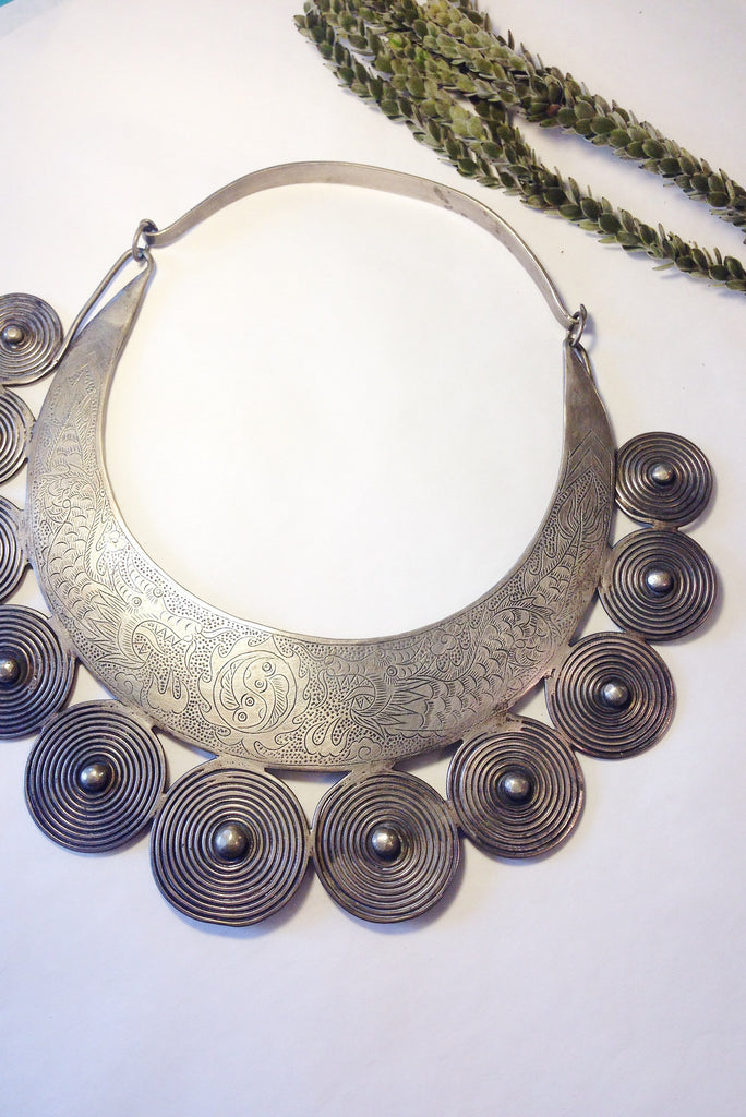 BLCKLAMB sterling silver tribal collar